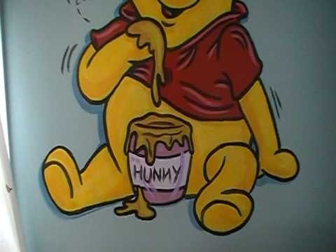 Winnie The Pooh    Wall Mural For An Amazing Nursery By :Timmy Britt    YouTube Part 51