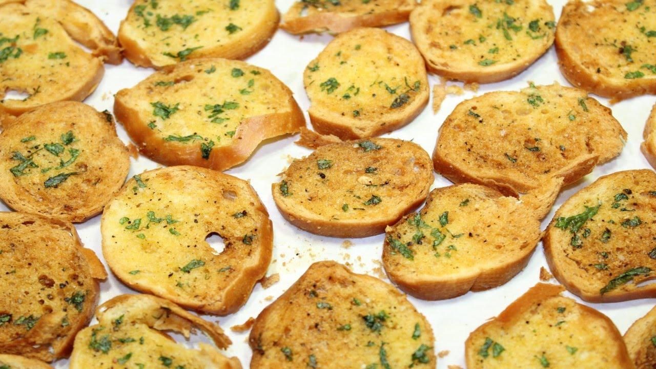 طريقة عمل شرائح خبز الفينو المحمص بالزبدة و الثوم - خبز الثوم - Garlic Bread