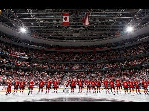 Game 1-Puck Drop-Senators vs Washington Capitals 2017-18