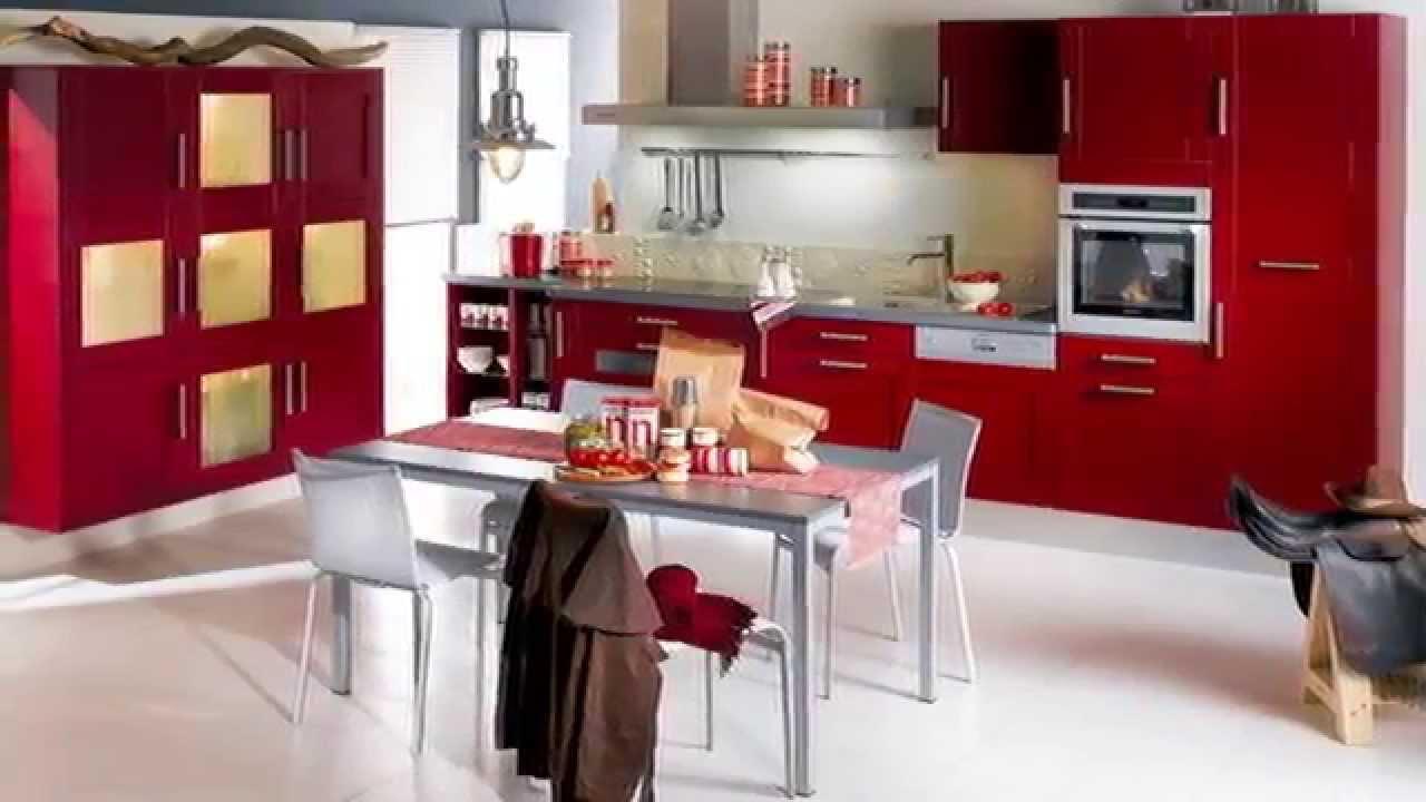 Cozinha Branca E Vermelha Juro Que No Achei Que O Granito Claro