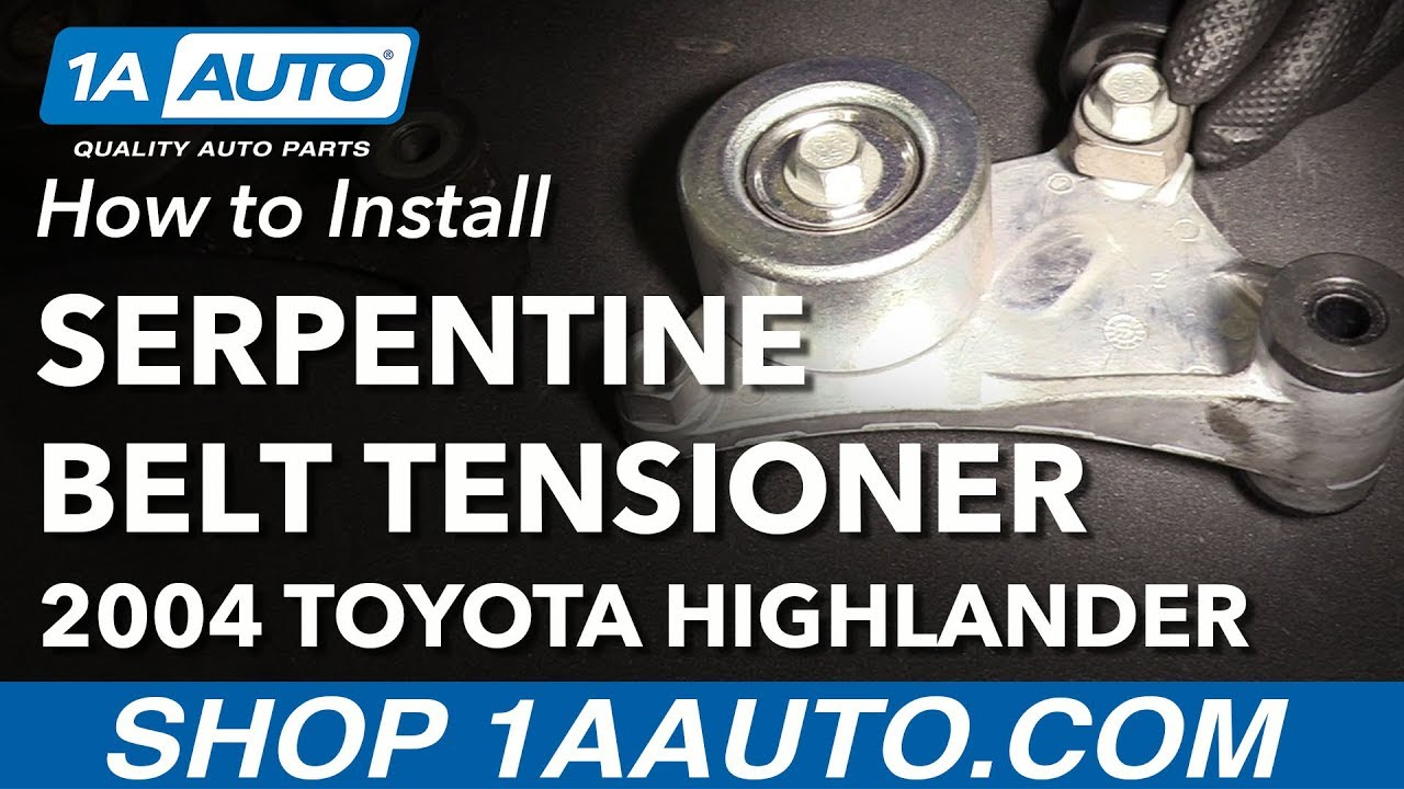 how to install replace serpentine drive belt tensioner 2001 07 toyota highlander l4 2 4l [ 1280 x 720 Pixel ]