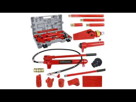 F2C 10 Ton Capacity Porta Hydraulic Bottle Jack ram Pump Auto Body ...