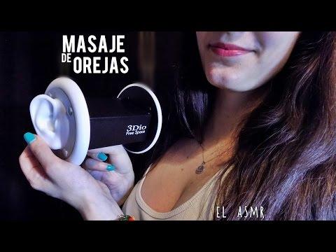 ♡ASMR español♡ MASAJE DE OREJAS con Aceite♥ Roleplay *3Dio*|Oil Ear Massage