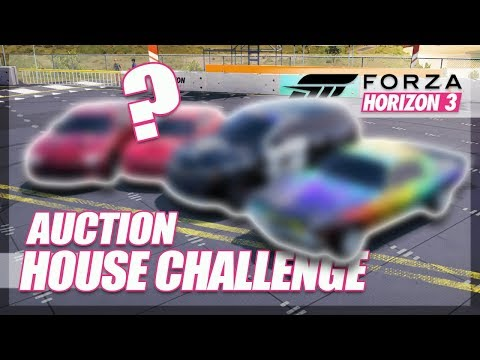 Forza Horizon 3 - Auction House Challenge! (Mini Games & Random Fun)