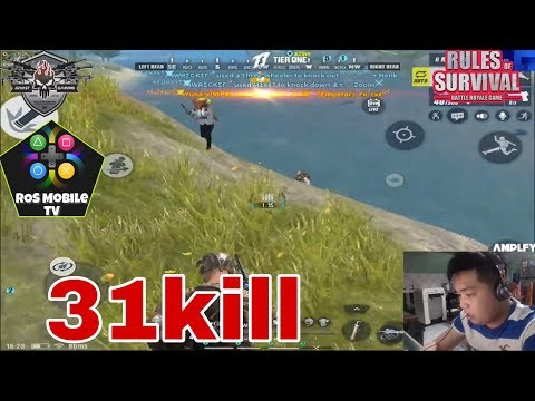 Ghost Wrecker: 31kill Play with Teammates full game play- Rules of Survival/ROS Mobile TV/-Ep.24