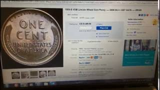 "1909S-VDB PENNY WHAT""S IT WORTH? $1499 RIGHT NOW STILL BIDDING"
