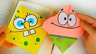 оригами из бумаги  Закладки для книг  Спанч Боб и Патрик