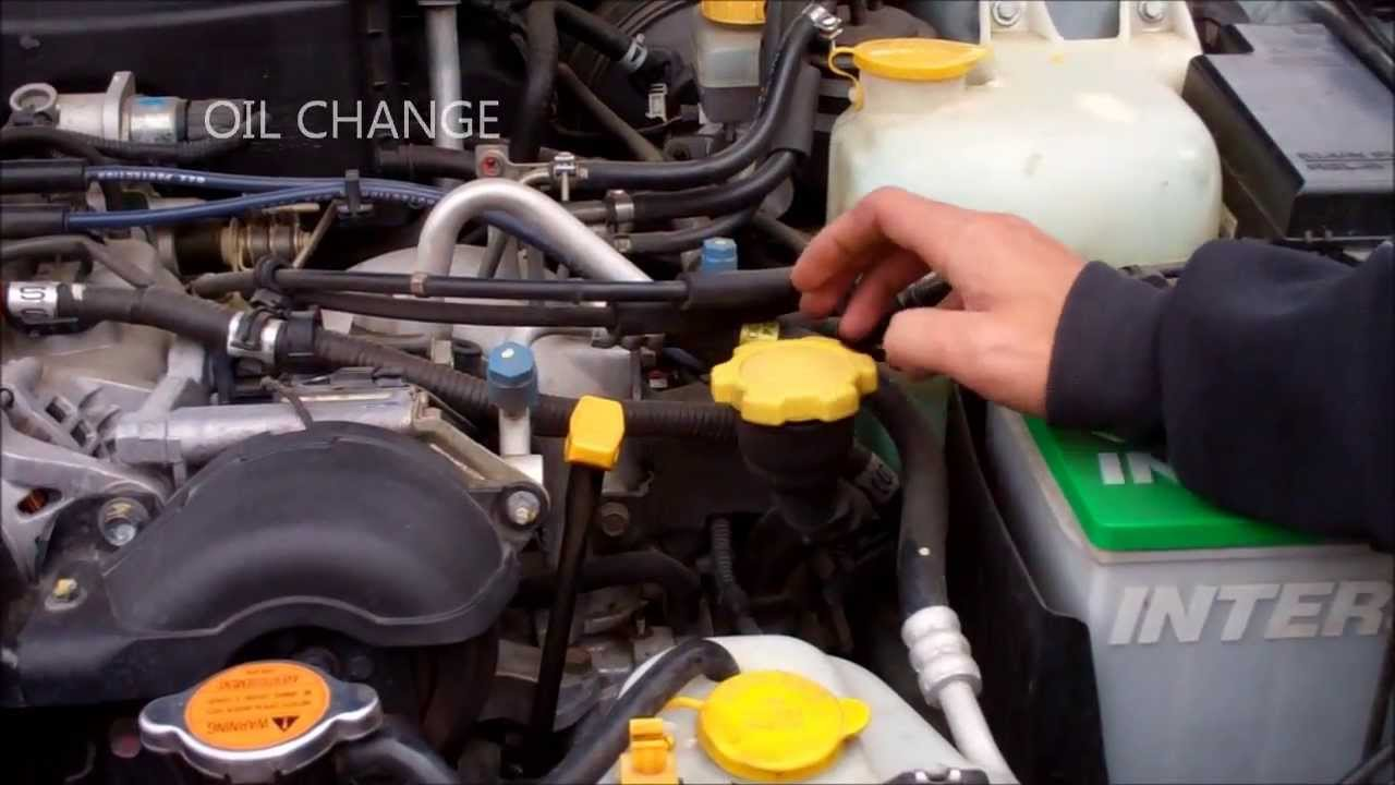 SUBARU OIL CHANGE - YouTube