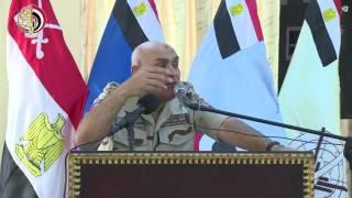 المتحدث العسكري ينشر فيديو لزيارة «صبحي» و«عبد الغفار» لسيناء