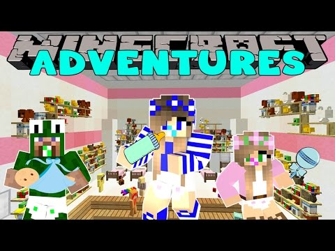 Minecraft Adventures-LITTLE CARLY TURNS INTO A BABY!!
