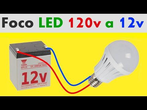 como-convertir-un-foco-led-de-120v-a-12v-con-simple-truco!