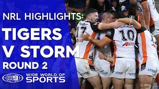 NRL Highlights: Melbourne Storm v Wests Tigers – Round 2