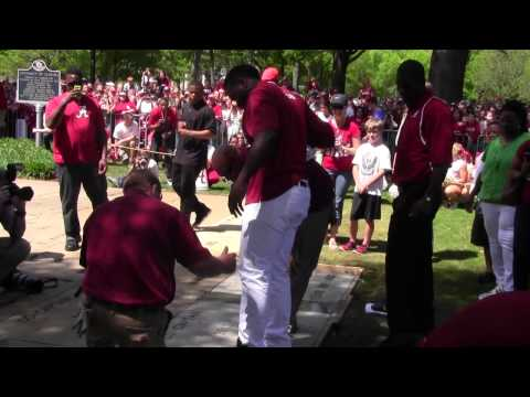 AJ McCarron, C.J. Mosley, Kevin Norwood leave their mark on the Walk of Fame - April 19, 2014