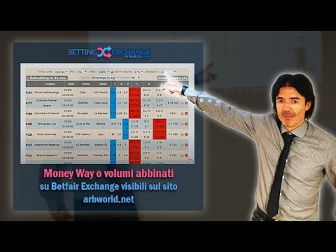 Money Way O Volumi Abbinati Su Betfair Exchange Visibili Sul Sito Arbworld.net
