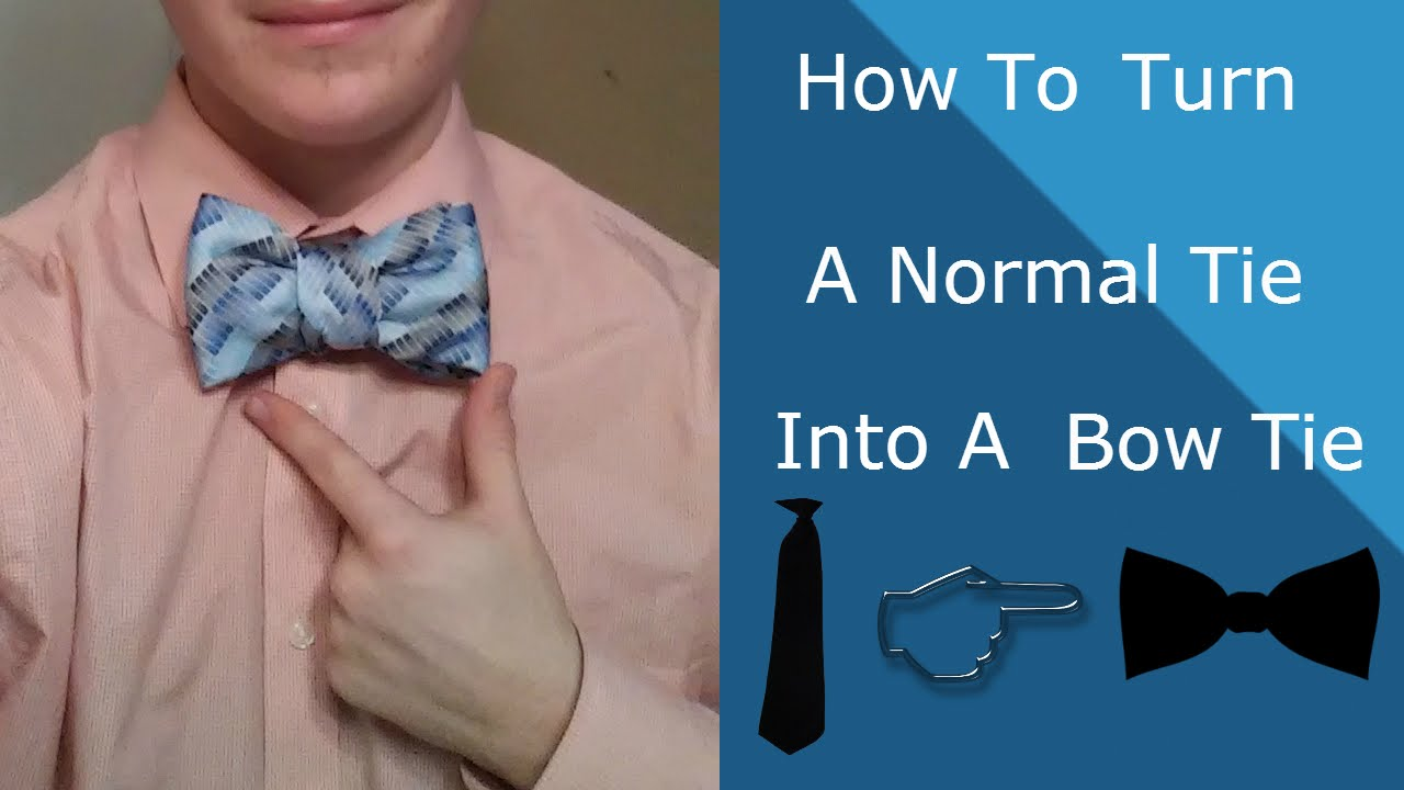 How to tie a bow tie with a normal tie youtube how to tie a bow tie with a normal tie ccuart Gallery