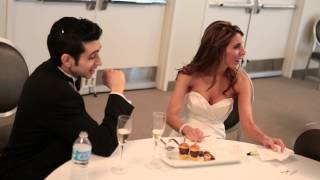 "CAPTURING THE STORY: The Bride ""I Love the arrangement of the SLS Beverly Hills Food!"""