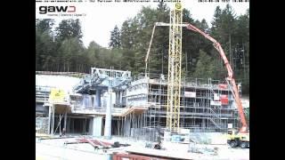 Zeitraffer Bau Seilbahn Weissenstein / Talstation