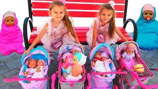 Куклы беби бон Ксюша и Арина играют как Мама  Видео для детей