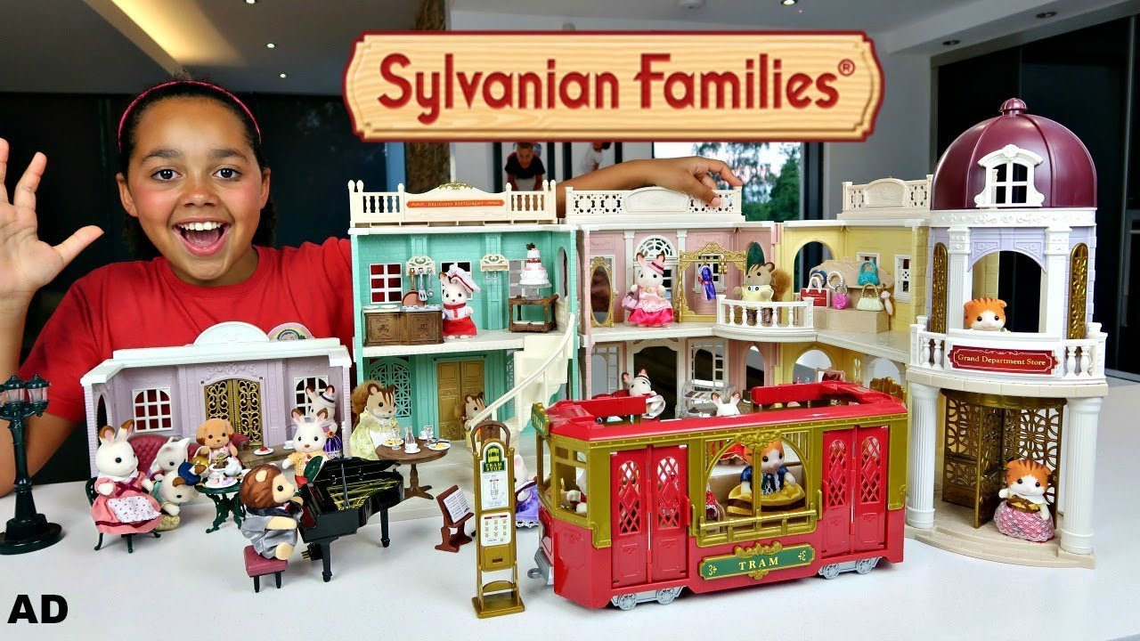 60ebec7af6b Sylvanian Families Calico Critters Sylvanian Families Town | Kids Toys  Review
