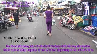 Bán Nhà Chính Chủ I Công Viên Bình Phú Q6 TpHCM ĐT'0909 089 662'