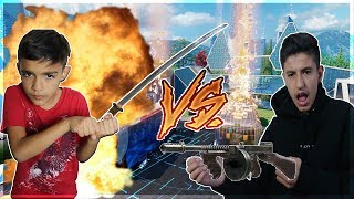 Black Ops 3 DLC Weapon Battle Against Little Brother!(Extreme Rage)