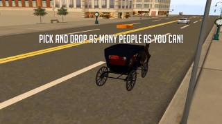 Horse Carriage Human Transport - Gameplay video