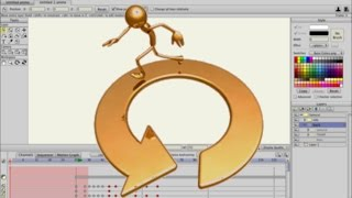 Anime Studio Pro 11 (Moho Pro) - Как сделать цикл анимации походки при инверсной кинематике