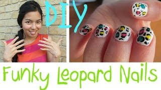 ♡ Funky Leopard Nails ♡ Thumbnail