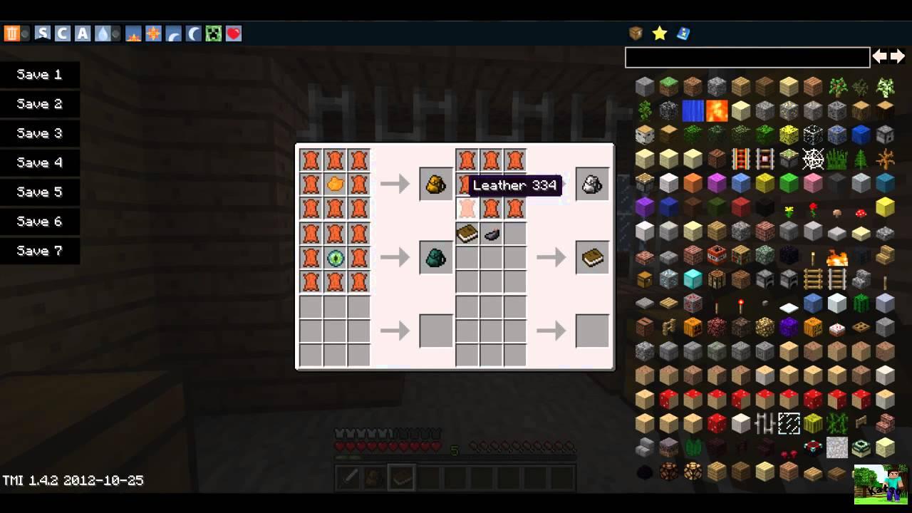 Minecraft MODS - Backpack [1.4.2] + Recipe Book [1.4.2 ...