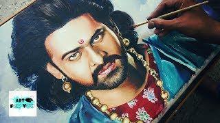 Bahubali realistic painting (speed painting)| Baahubali Drawing | Prabhas painting |