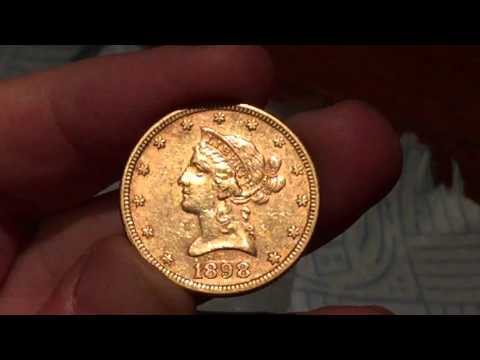 "1898 $10 gold eagle pre-33 coin arrives today. This was the ""free"" one what do you guys think?"