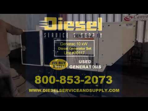 10 kw generac diesel generator set unit 70117 youtube