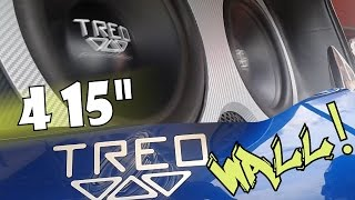 Ford KA con 4 Subwoofers 15