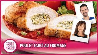 Recette légère : Blancs de poulet farcis au fromage