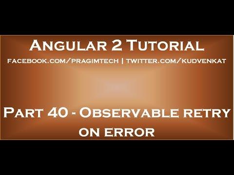 Observable retry on error