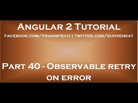 Observable retry on error