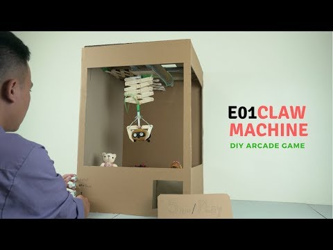 DIY Arcade Game – Ep01:  Make Claw Machine from Cardboard