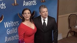 Meredith Salenger and Patton Oswalt at the 2018 Writers Guild Awards Los Angeles