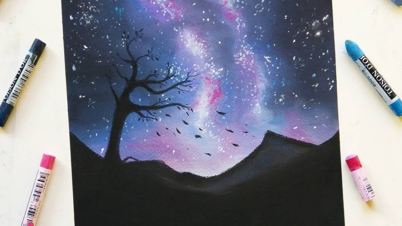 Drawing A Starry Night With Soft Pastels Leontine Van Vliet Youtube