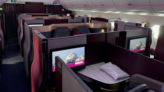 Qatar Airways A359 Qsuite, Doha-Stockholm