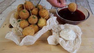 Как приготовить сырные шарики | Вкусная и быстрая горячая закуска