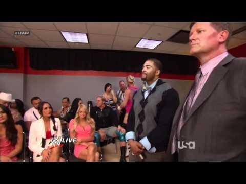John Laurinaitis & David Otunga Address WWE Locker Room - WWE Raw 4/2/12