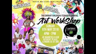 Tropical Mas & caribArt  Kids Workshop in Woolwich
