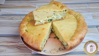 Быстрый заливной пирог с яйцом и зеленым луком. Тесто на кефире. Готовим Просто и Вкусно.