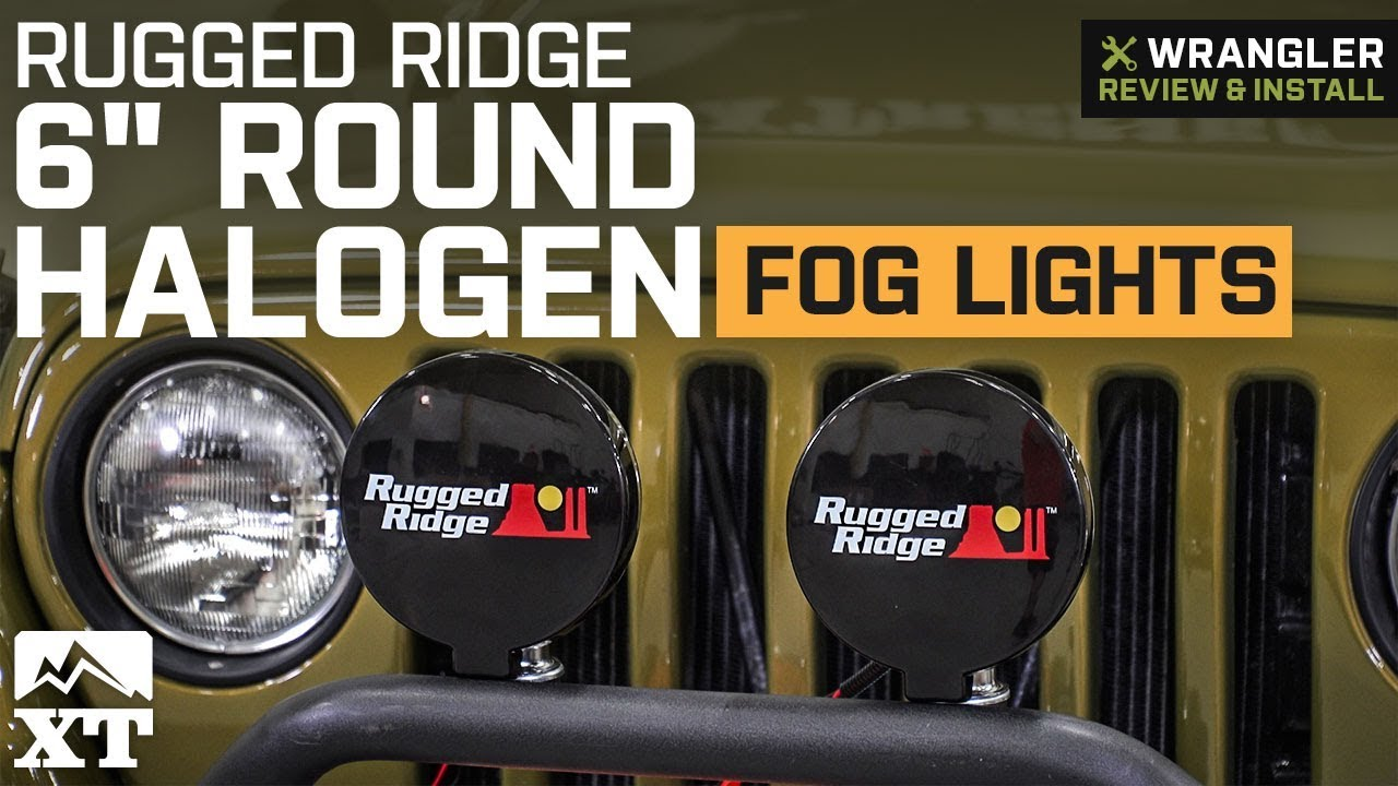 Wiring Fog Lights Jeep Wrangler Yj Largest Diagram Database Oem Rugged Ridge 6 Round Halogen Light 1987 2018 Rh Youtube Com