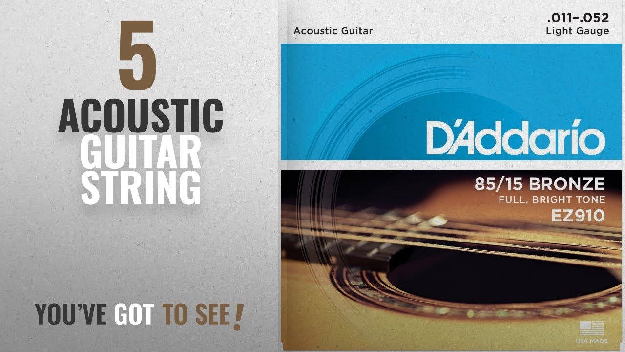 Top 10 Acoustic Guitar String [2018]: D\'Addario EZ910 Bronze Light ...
