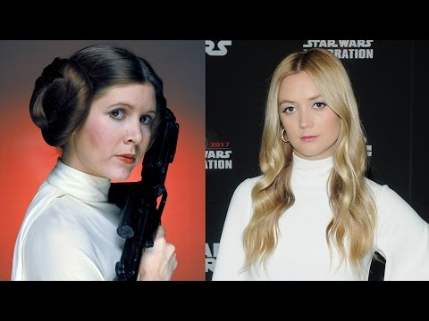 Thumbnail: Billie Lourd Channels Princess Leia While Honoring Mom Carrie Fisher at Star Wars Celebration