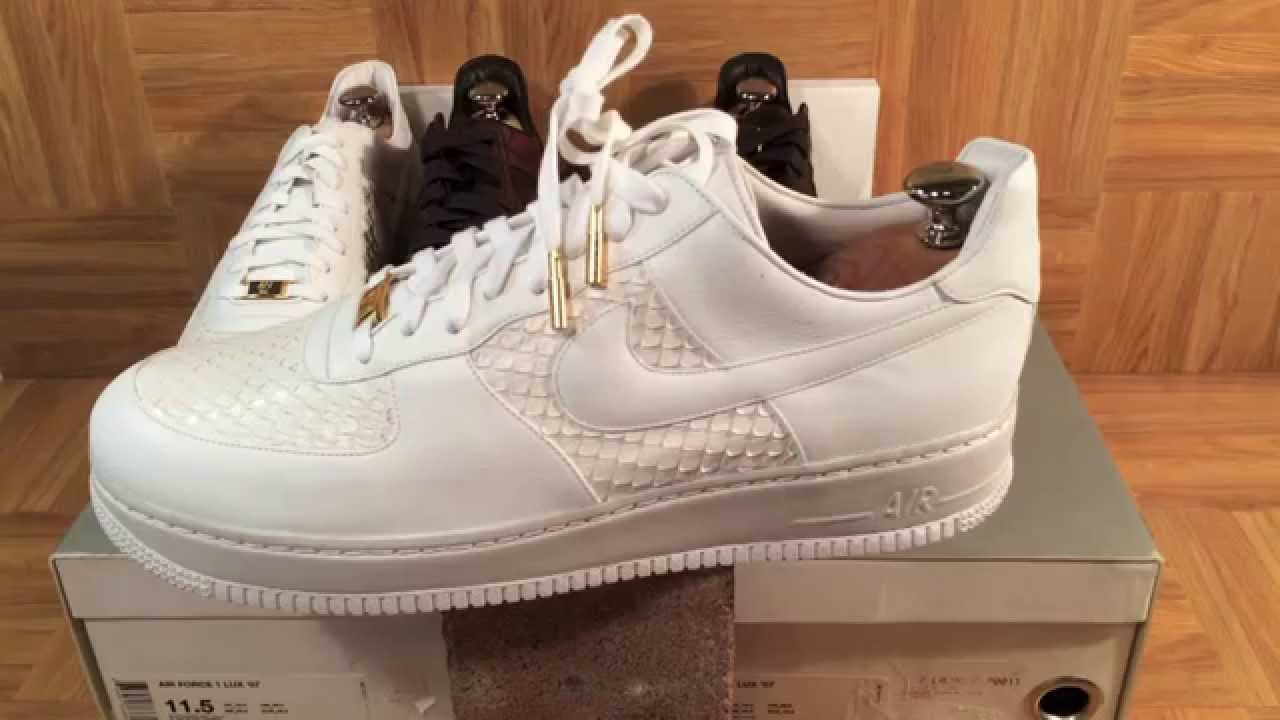 ShoeZeum The Most Expensive Nikes Ever: $2000 Anaconda And Crocodile Air Force 1s
