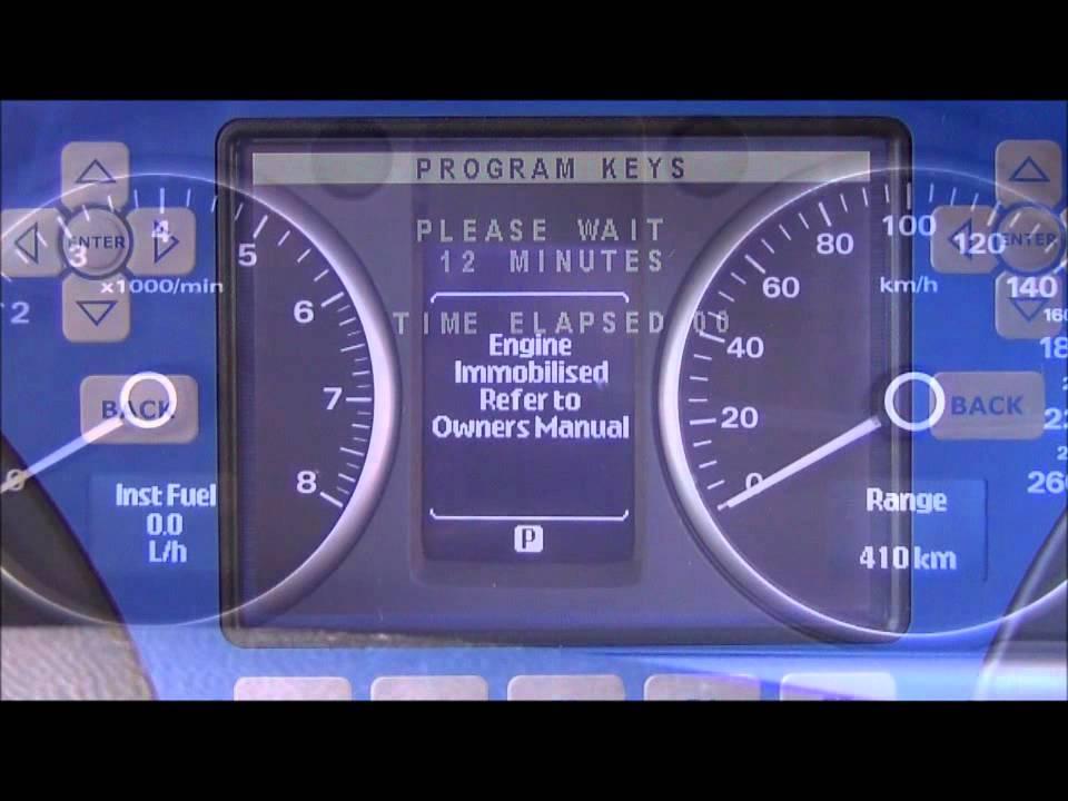 GM Holden VE Commodore 2009 onwards Transponder and remote programming