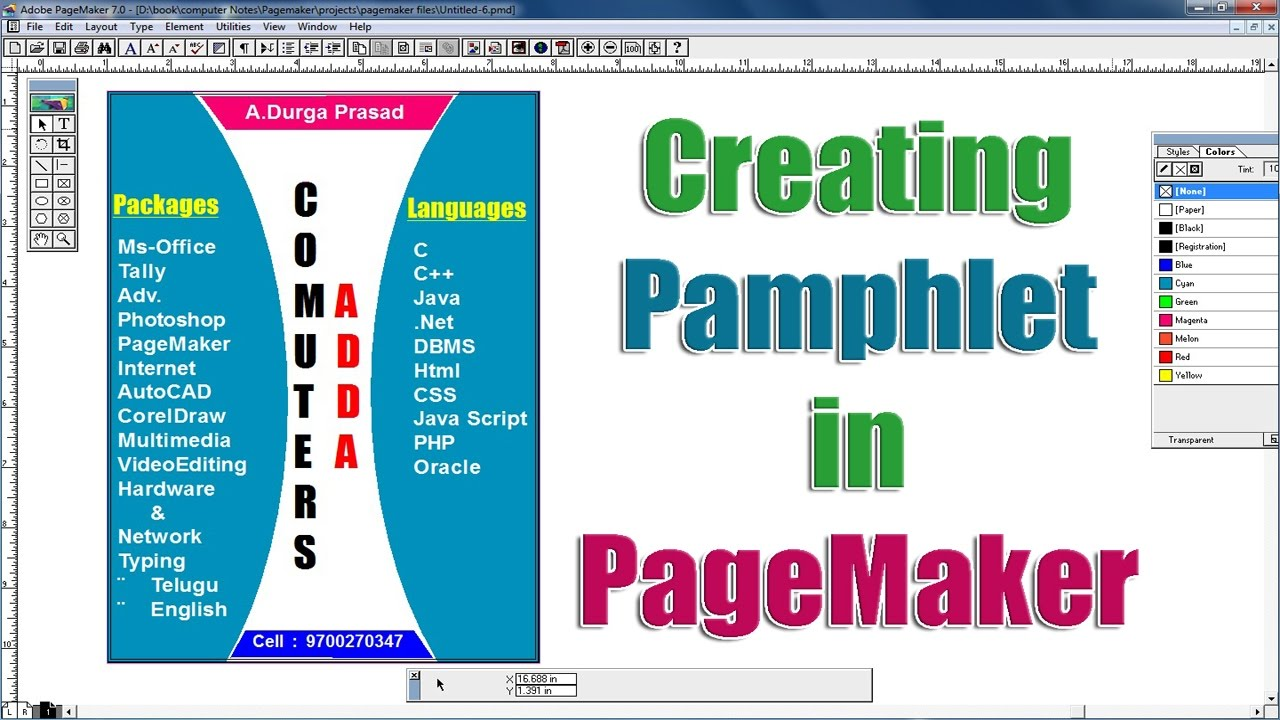 making a pamphlet online free